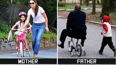 mengajari sepeda