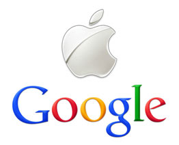 http://zonahitamdunia.blogspot.com - Logo Google dan Apple Bersama