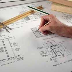 arsitek sedang melakukan desain
