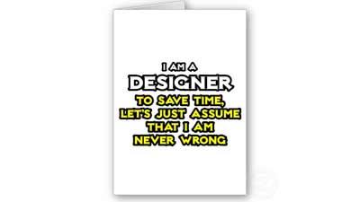 desainer tidak pernah salah