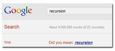 google recursion