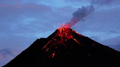 letusan gunung berapi
