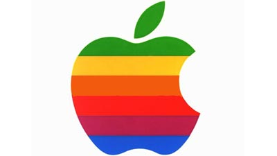 logo apple pelangi rainbow