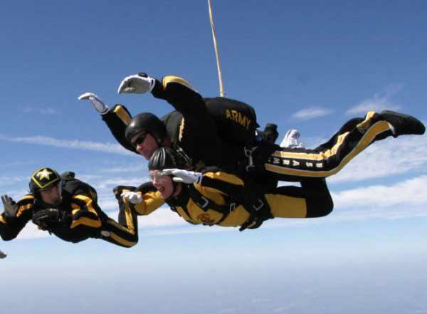 posisi parasut dari ketinggian