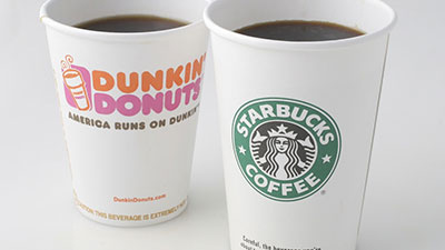 Dunkin' Donuts and Starbucks