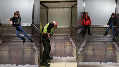 London's Wandsworth Town lift