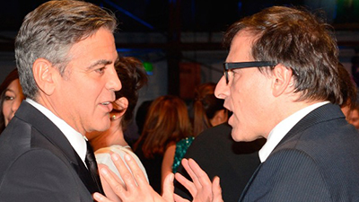 David O. Russell and George Clooney