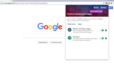unknown extension chrome