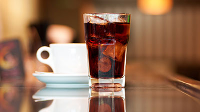 coffee and soda