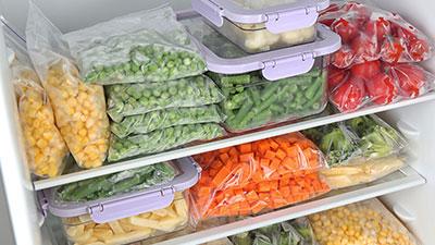vegetables freezer