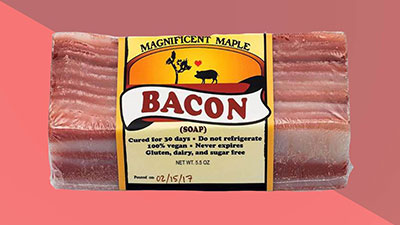 Bacon-scented soap