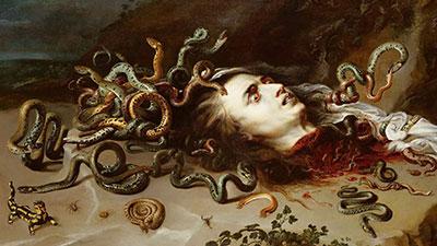 Scary Head of Medusa