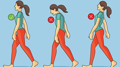 bad walking posture