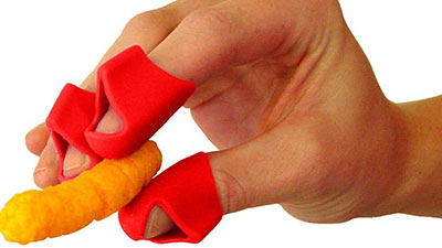 finger covers for cheesy food