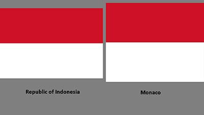 indonesia and monaco
