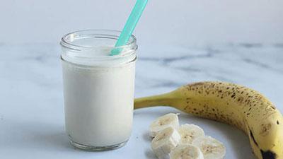 milk and banana