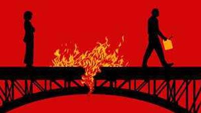 bakar jembatan komunikasi