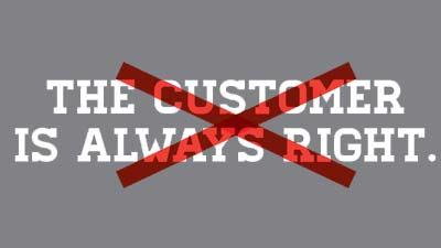 customer tidak selalu benar