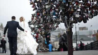 Moscow Love Padlock