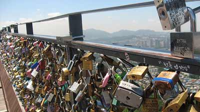 Seoul Tower Love Lock