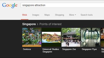 Melalui mesin pencari Google seseorang dapat mencari atraksi menarik yang ada di suatu negara