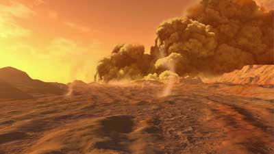 Karena badai debunya, Mars merupakan salah satu planet terburuk di alam semesta atau tata surya