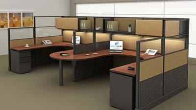 Ruang kerja yang memiliki penghalang suara lebih baik dibandingkan yang tidak