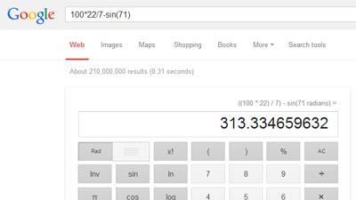 Google menyediakan fitur perhitungan yang dapat langsung dilakukan dalam pencariannya