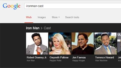 Melalui mesin pencari Google seseorang dapat mencari cast atau aktor yang bermain di suatu film