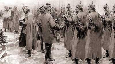 Perdamaian Natal terjadi pada tahun 1914 di Perang Dunia I