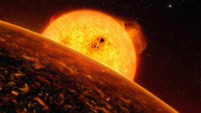 COROT-7b merupakan planet yang sangat panas bahkan dapat membuat batu menguap