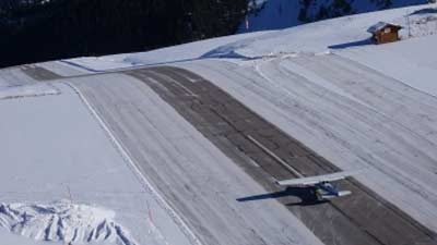 Courchevel French Airport