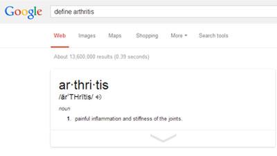 Google menyediakan fitur mendefinisikan sesuatu pada pencariannya