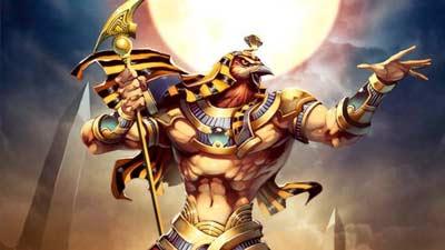 Ra si Dewa Matahari akan mati saat matahari terbenam dan hidup kembali saat matahari terbit