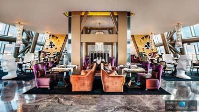 Elba Italian Restoran di Shenzhen, Cina adalah restoran tertinggi kedua dunia