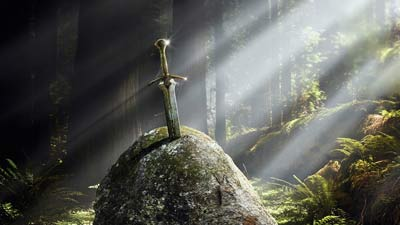 Excalibur Sword in the Stone