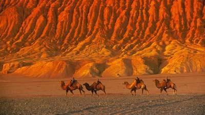 Flaming Mountain adalah gunung di Cina yang benar-benar sangatlah panas bahkan berasal dari cerita kera sakti