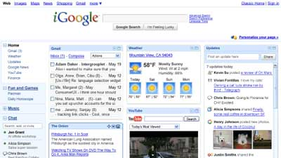 iGoogle adalah salah satu produk Google yang gagal dan ditinggalkan