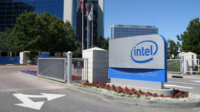 Intel Logo Headquarter