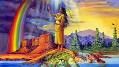 Mitologi Iroquois mengenai bulan dan matahari atau kemunculan siang dan malam
