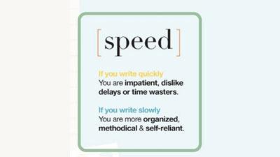 Kecepatan menulis juga menentukan kepribadian dan karakter seseorang