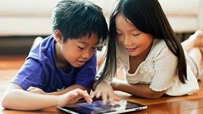 Kid Playing iPad