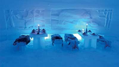 Laino Snow Village Ice Restaurant merupakan salah satu restoran paling unik dan menarik dunia