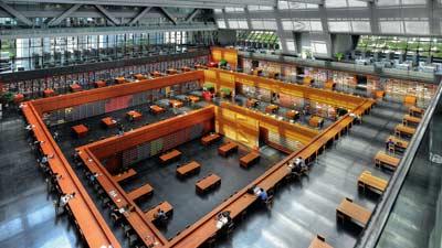 National Library of China di Beijing adalah salah satu perpustakaan terbesar di dunia