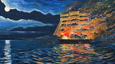 Kapa hantu Northnumberland Strait merupakan kapal hantu yang penuh dengan kobaran api dan mengerikan