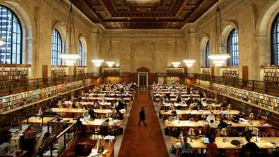 New York public library adalah salah satu perpustakaan terbesar di dunia