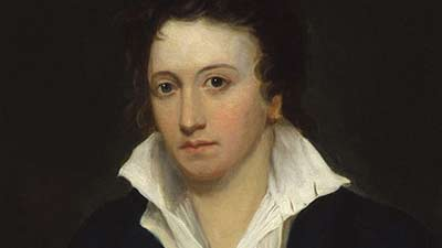 Percy Bysshe Shelley dihantui oleh bayangannya sendiri