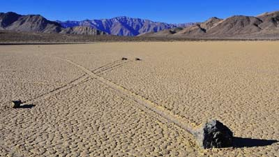 Sailing Stone at Death Valley, US