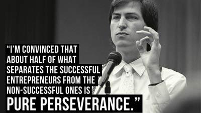 Ketekunanlah yang membedakan mereka yang sukses dan yang tidak - Steve Jobs