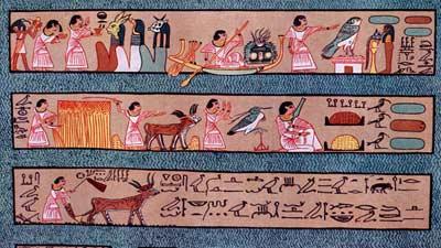 The fields of aaru adalah gambaran surga dalam mitologi mesir